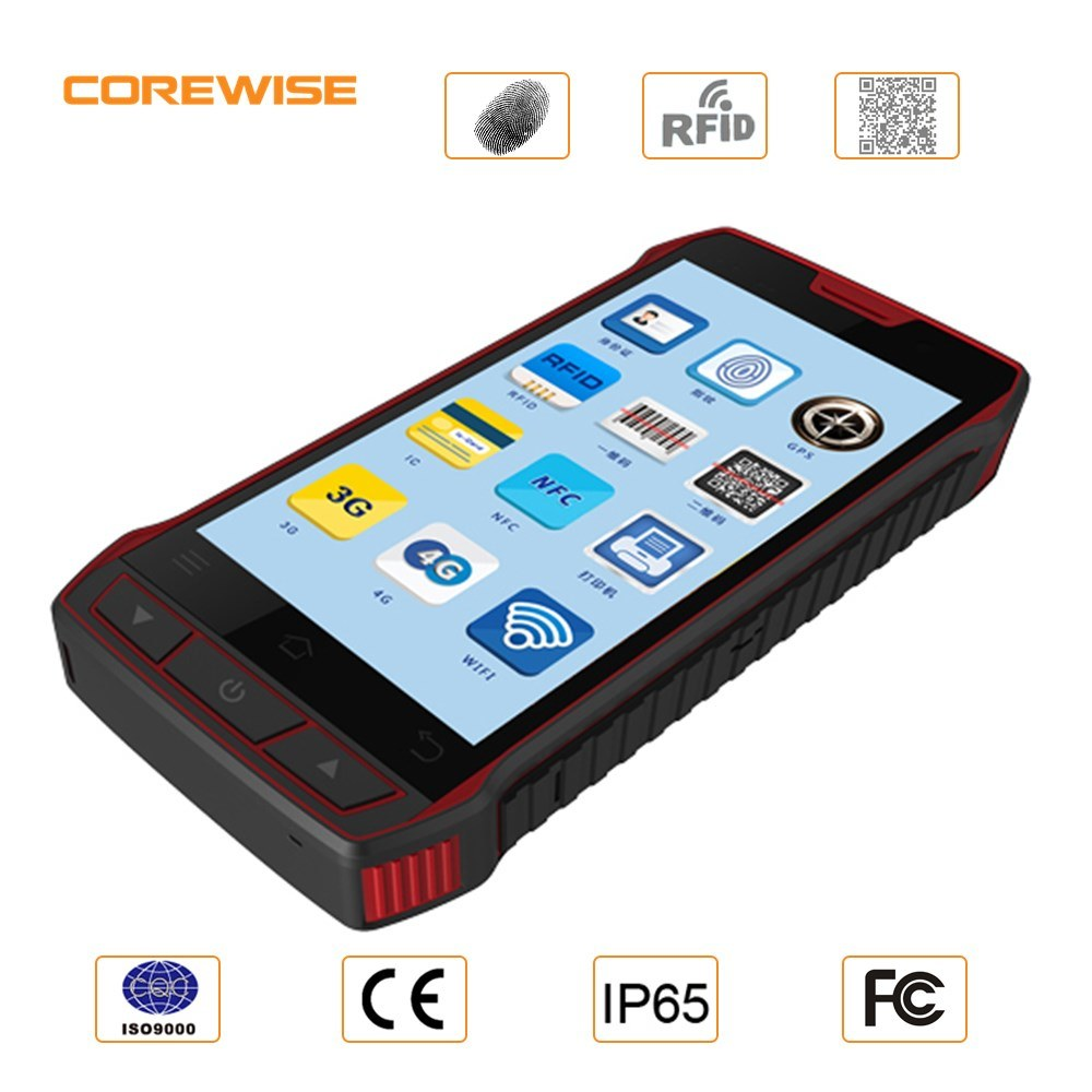 China Manufacturer Rugged Andorid Handheld Smart Mobile Phone with Barcode Scanner/ Fingerprint / IC Card/ NFC/ Hf UHF RFID Reader Writer (Optional) - Cfon640