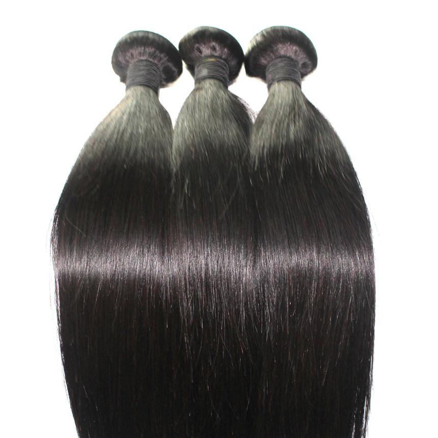 8A Natural Color Straight Brazilian Virgin Human Hair Weft