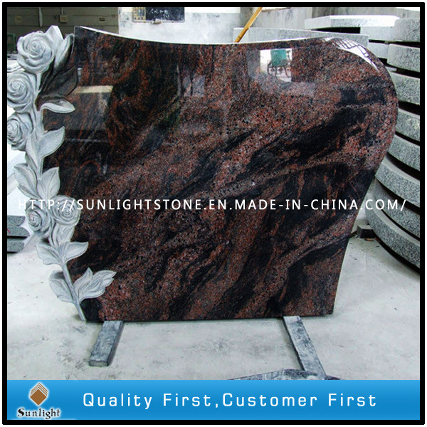 Aurora Pet/Baby Granite Headstone/Tombstones with Carved Rose Design