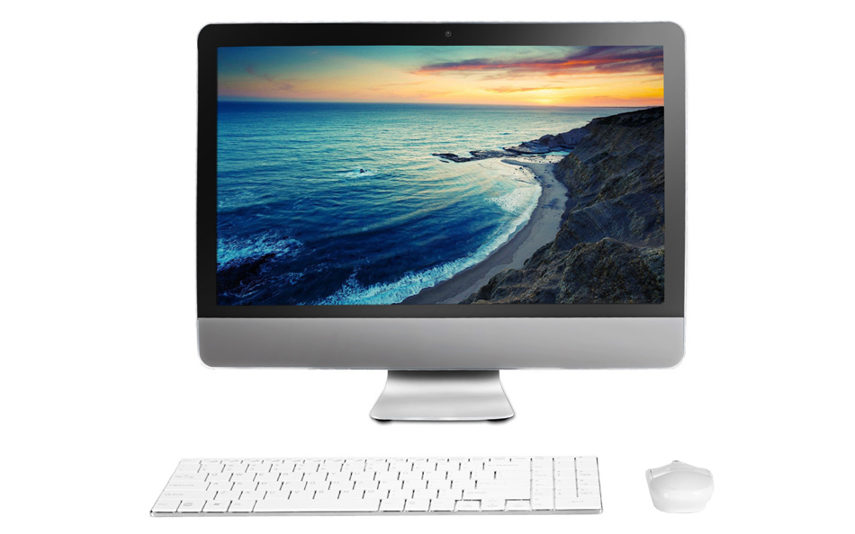 "21.5"" All in One Computer, White Color 10mm Ultrathin"