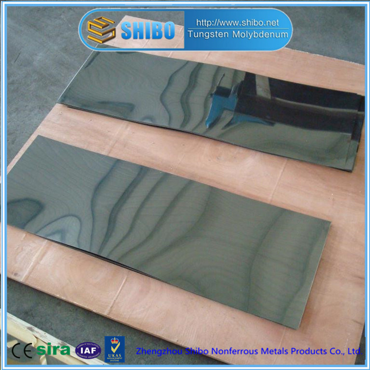 Factory Direct Supply Pure Molybdenum Sheet with Cold Rolled Bright Surface