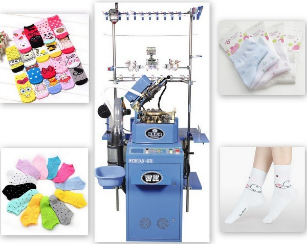 Weihuan (WH) Computeried Single Cylinder Plain Socks Knitting Machine (woman socks) Wh-6f-R
