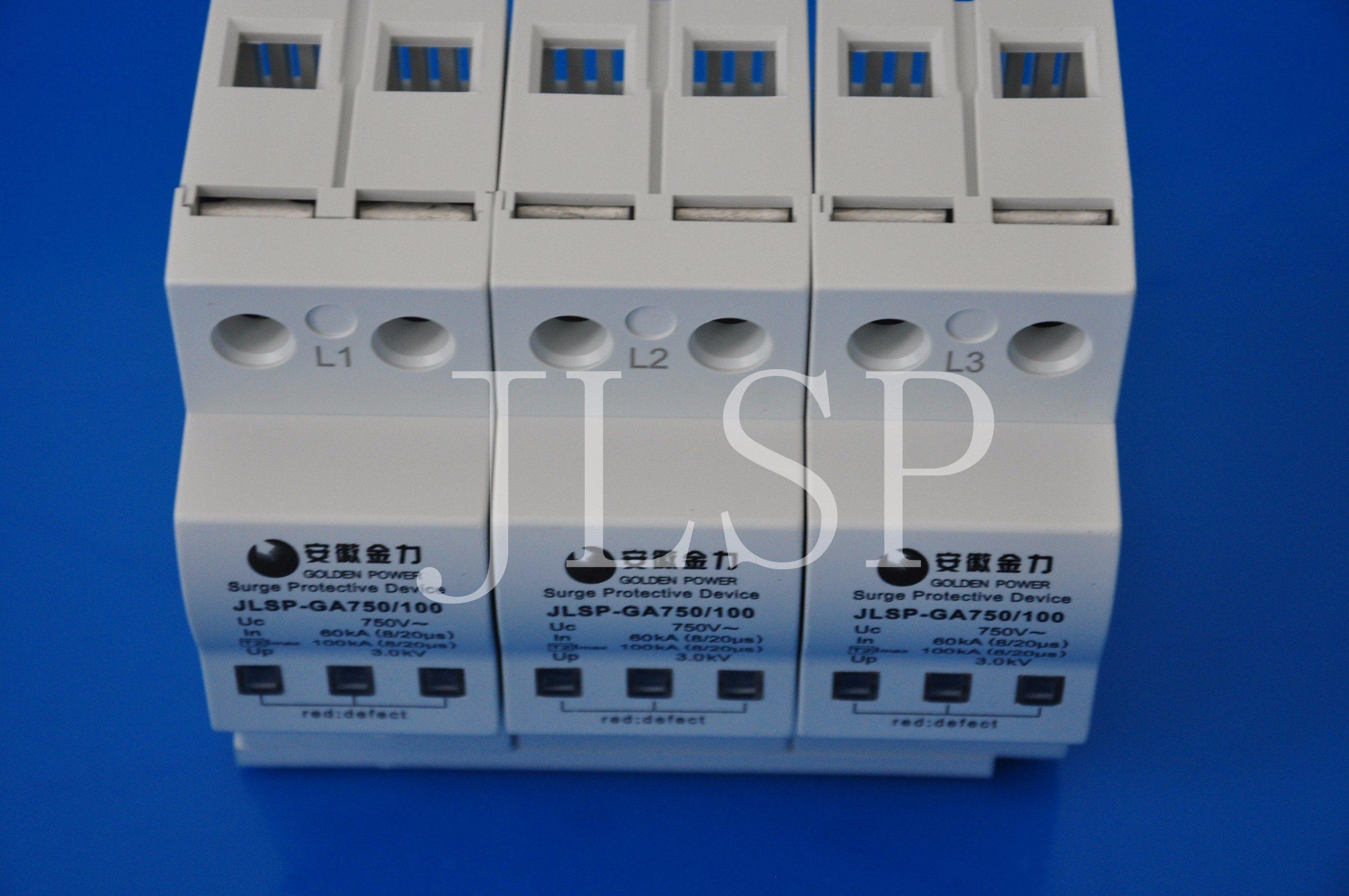PV Application 20-40ka Solar 3p DC 1000V Jlsp-Ga750-100 Surge Protector, 17004