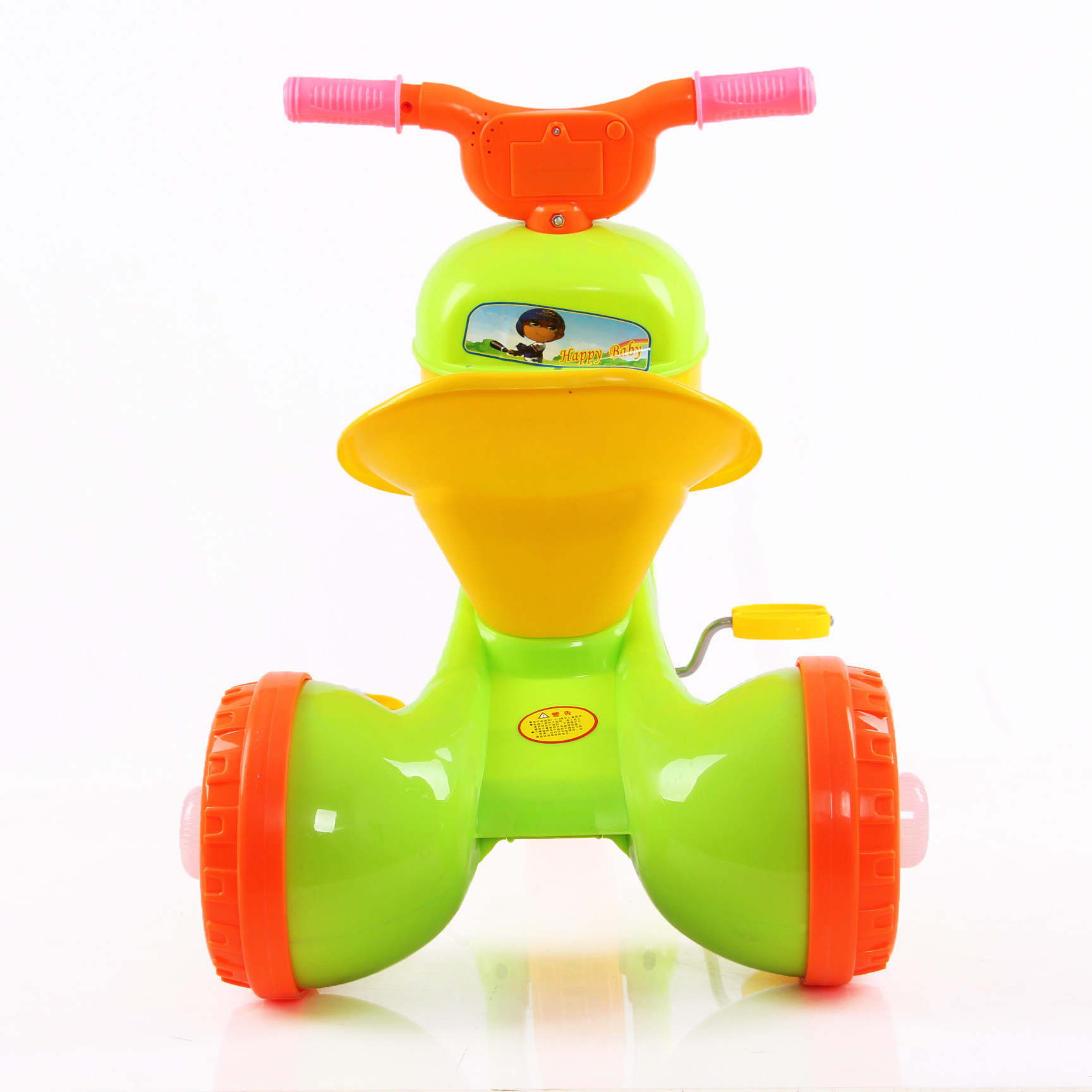 3 Color New Plastic Kids Tricycle with Foldable Frame