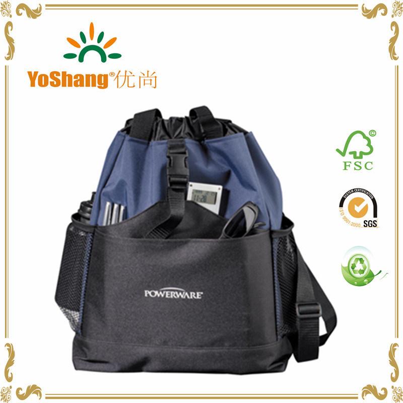 2016 New Design Padded Drawstring School Backpack, Famous Brand School Art Bag