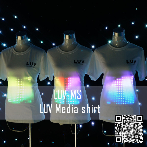 2014 New Design Luv Media Shirt LED Sign