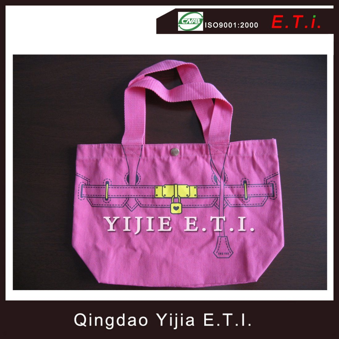 Eco Friendly Cotton Tote Bag with Web Handlee