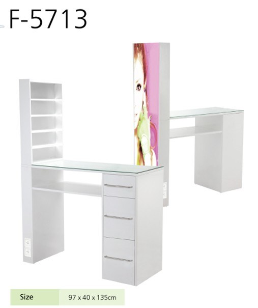 Anti Acetone Manicure Table Finished with Painting (TKN-F5713)