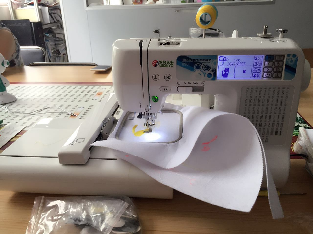 Home Use Embroidery and Sewing Machine for Small Shop