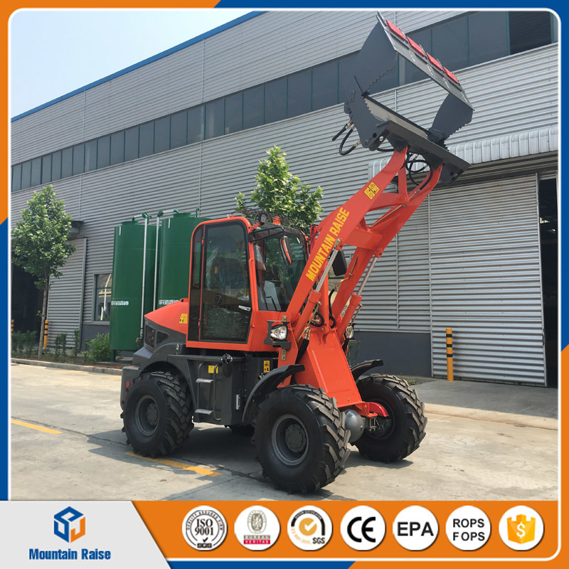High Configuration New Model 1500kg Mini Wheel Loader