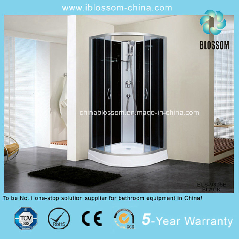 High Quality Clear Glass Sector Complete Shower Cabin (BLS-9806B BLACK)