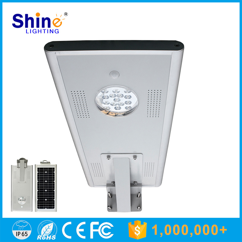 Outdoor 15W All in One Solar LED Street Light with PIR Motion Sensor
