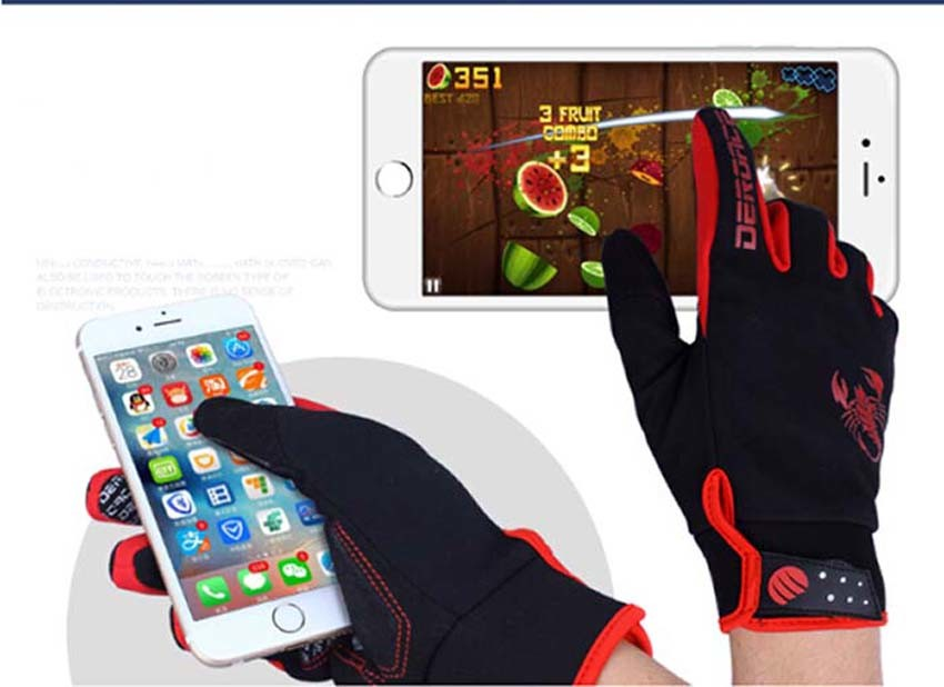 Bicycle Gloves Racing Gloves Windproof Cotton Gloves