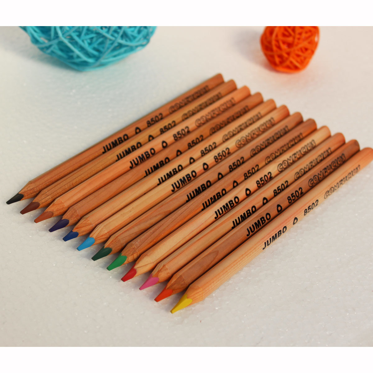 Jumbo Size 12 Color Pencils Stationery, Jumbo Pencils