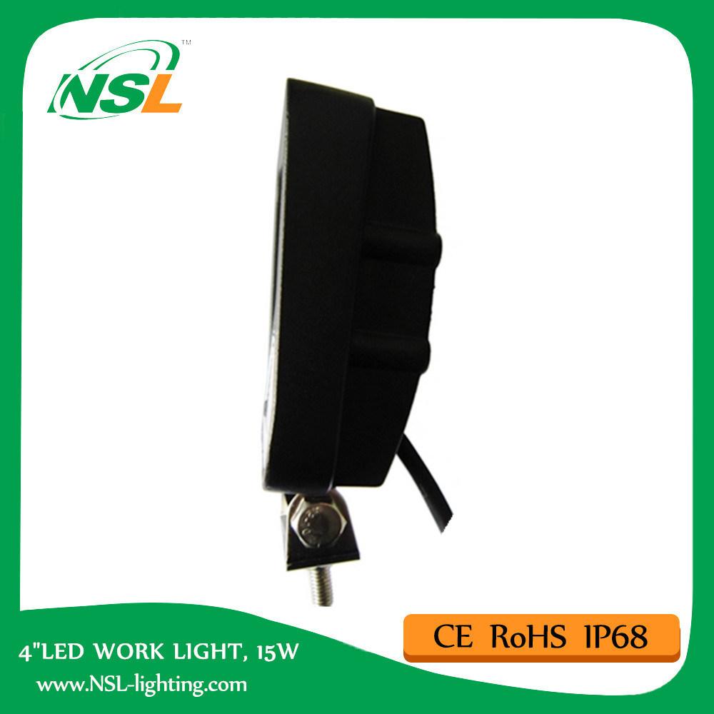 15W LED Work Light 4 Inch 12V 24volt DC LED Work Light for Trucks Cheapest Price