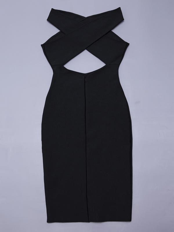 Stretch Slim Bodycon Keyhole Revealed Waist Back Dresses