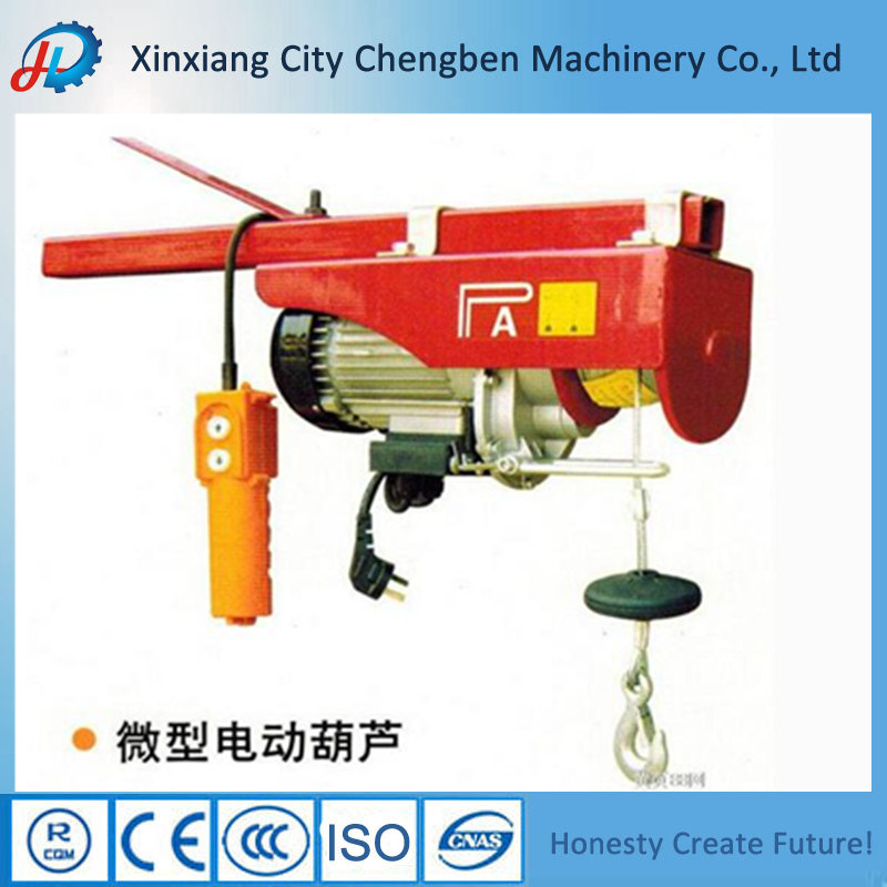 China Manufacturer PA Wire Rope Mini Electric Hoist/Mini Electric Winch