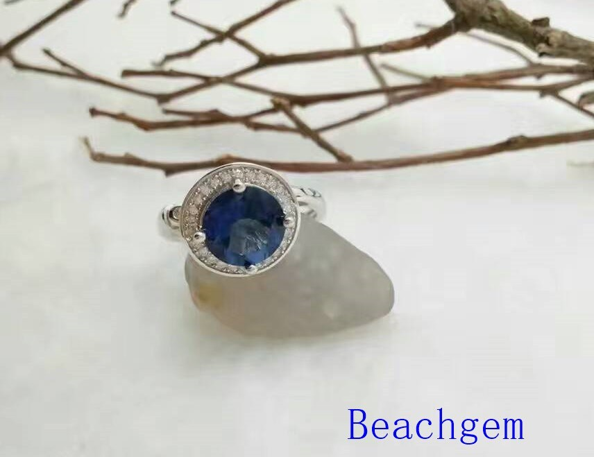 Jewelry-Tanzanite Sterling Silver Ring (R0275)