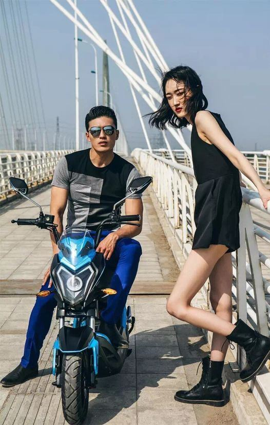 Aima Patent Design Electric Motorcycle with 800W Bosch Motor