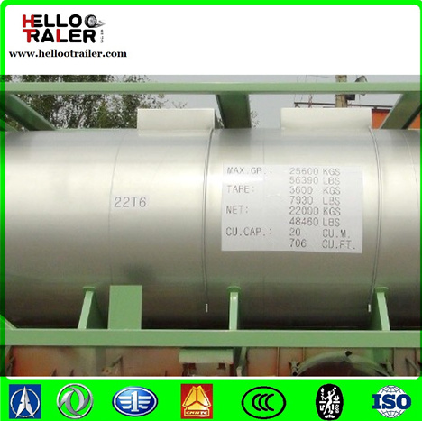 China Carbon Steel 20FT ISO Tank Container