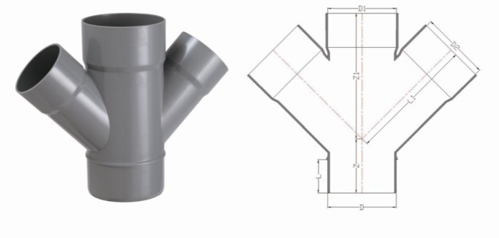 China pvc u pipe fittings for water drainage y cross