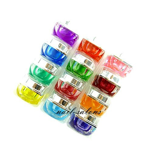 Professional Nail Art 8g Coloured Glaze UV Gel 12 Colors Set Color Painting Gel