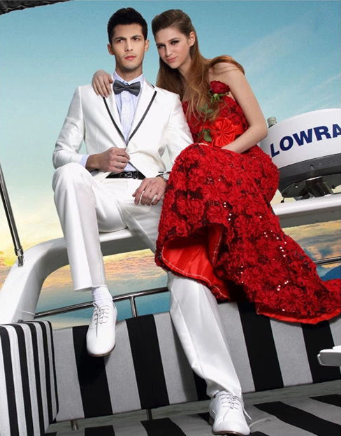 High Quality White Wedding Best Man Suits (BCS010)