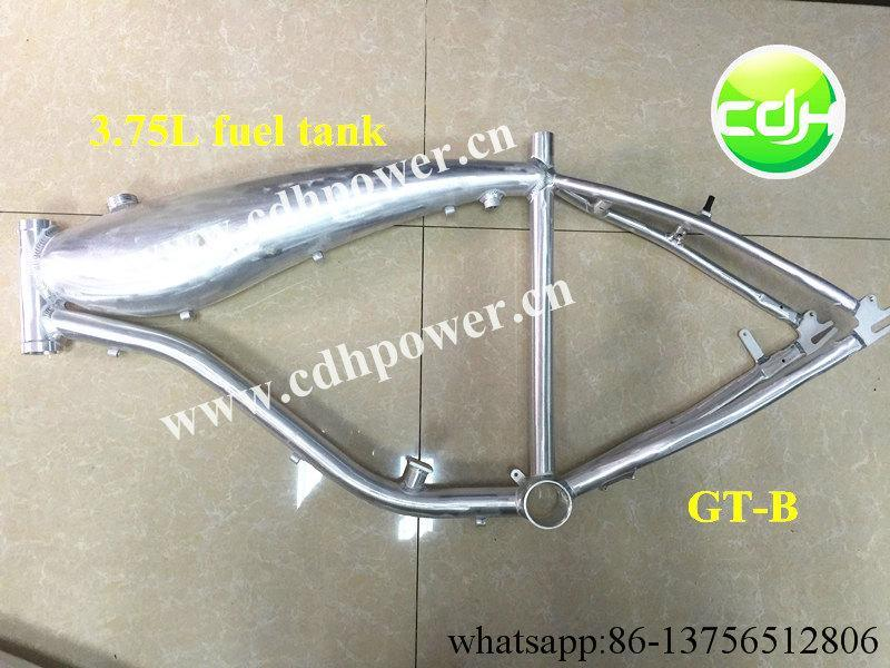 Bicycle Frame Aluminum, Gas Tank Built Frame
