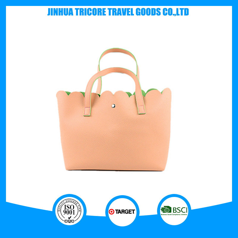 Promotional PU Material Daily Tote Bag