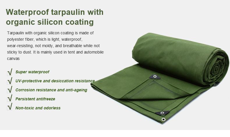 Waterproof Tarpaulin with Organic Silicon Coating