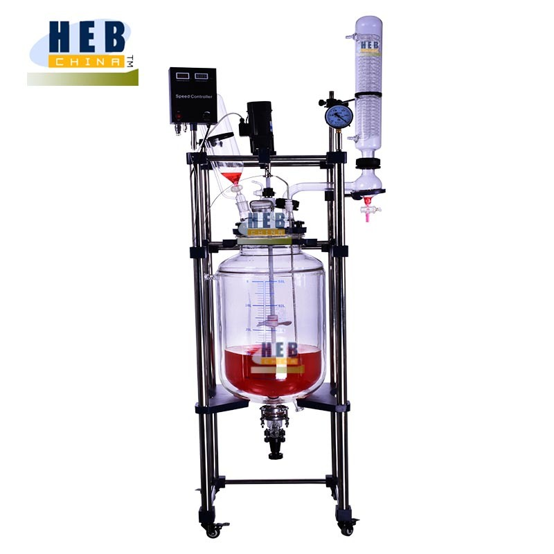 Heb-50L New Type Jacketed Glass Reactor with Chiller