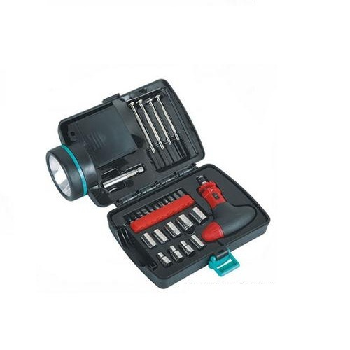 Portable Emergency Tool Kit with Flashlight