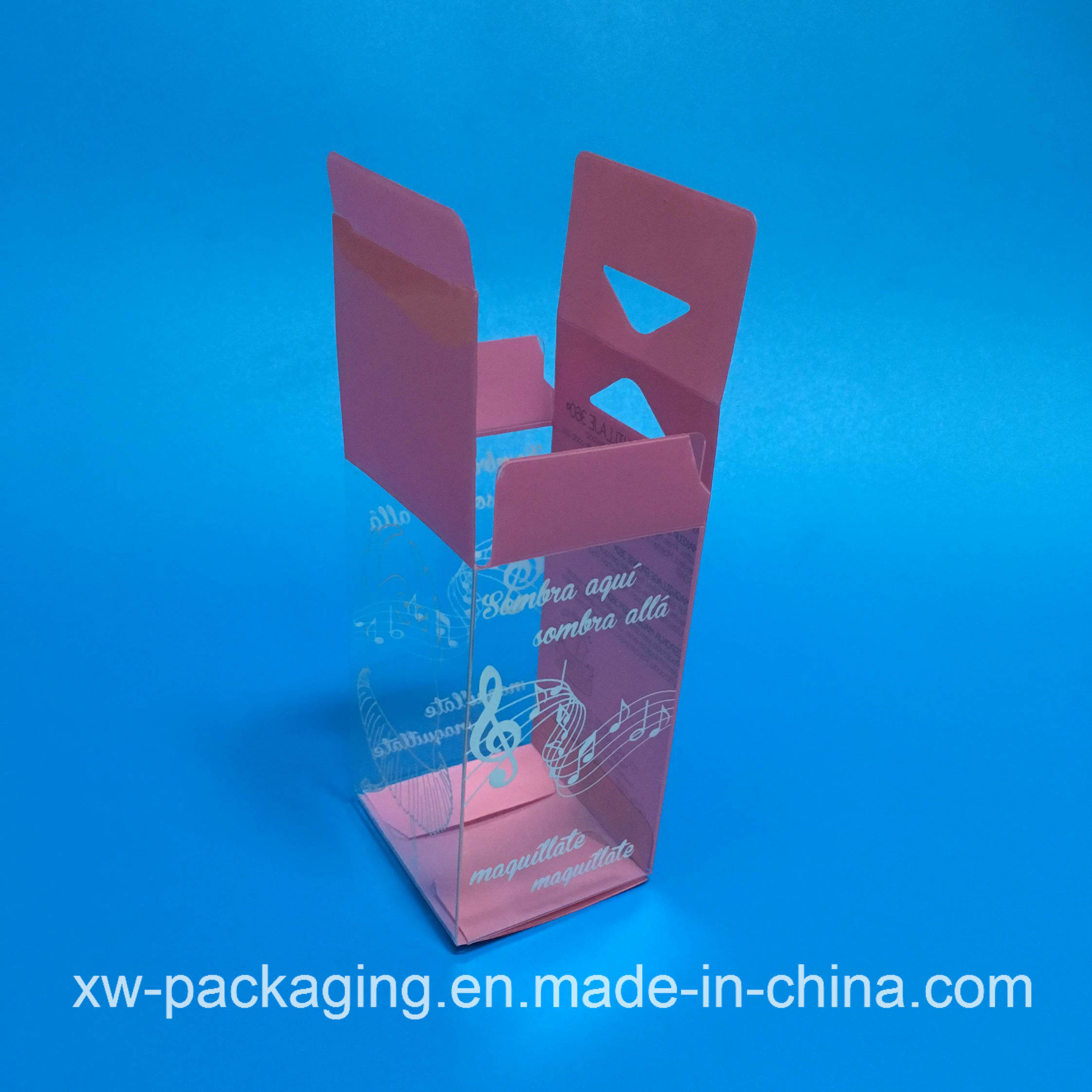 Small Folding Plastic Box for Cosmetic Package