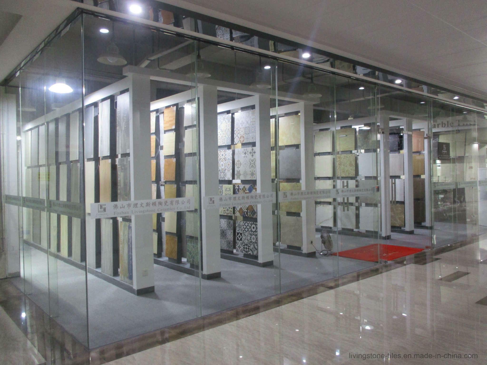 Gray Marble Copy porcelain Stone Tile of 3D Inkjet Floor Tile