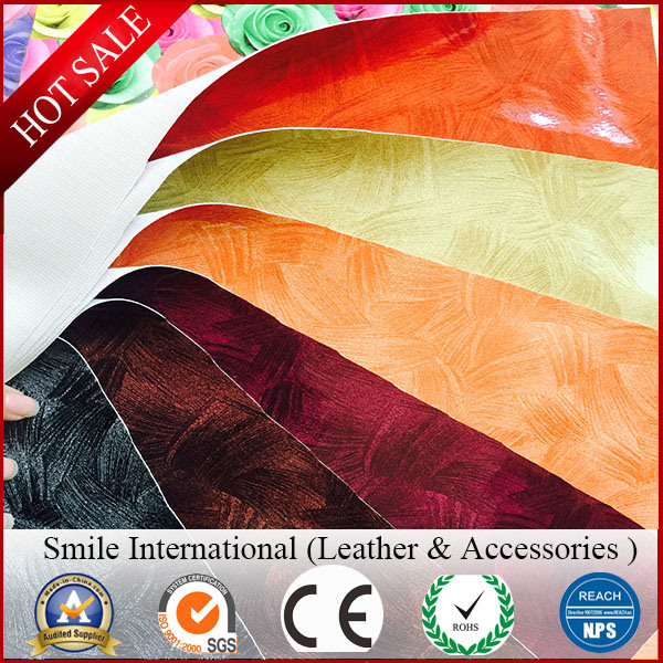 PVC Leather Digital Printing High-Light Artificial Leather Used Shoes and Handbags