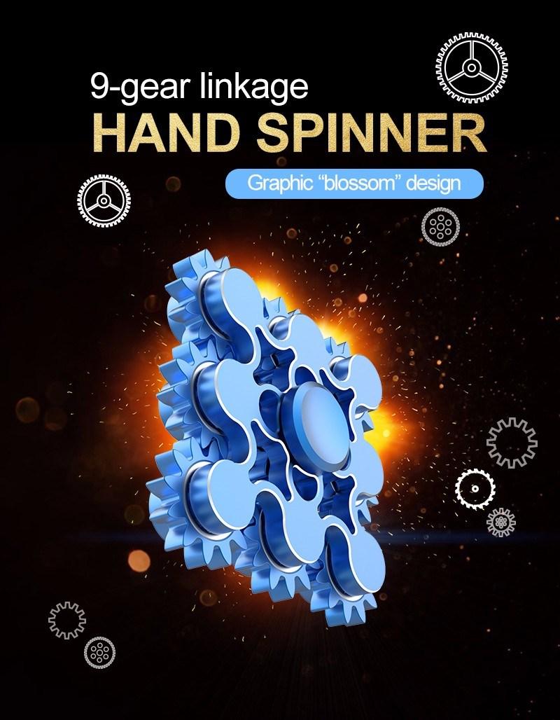 9 Gear Linkage Fidget Spinner Toy Hand Spinner