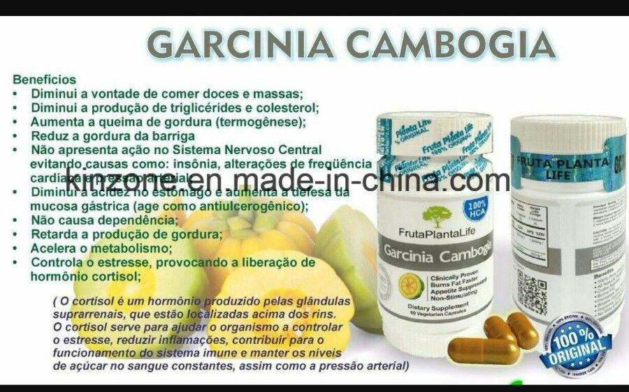 Garcinia Cambogia Extract 100% Hca Frutaplantalife Diet Pills Weight Loss