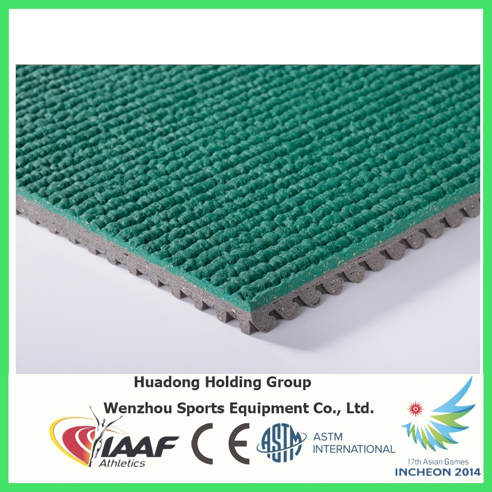 Environmental Friendly Prefabricated Rubber Running Tracks Mats for Children, School Playground