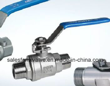 2PC Double Male Ball Valve