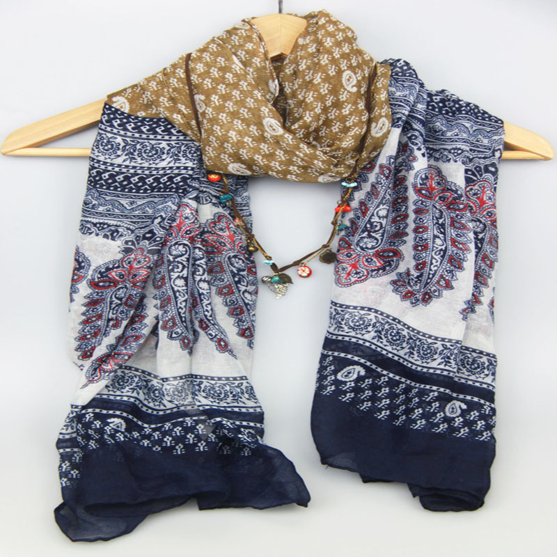New Design Printed Flower Scarf Fashion Accessory for Women Shawls