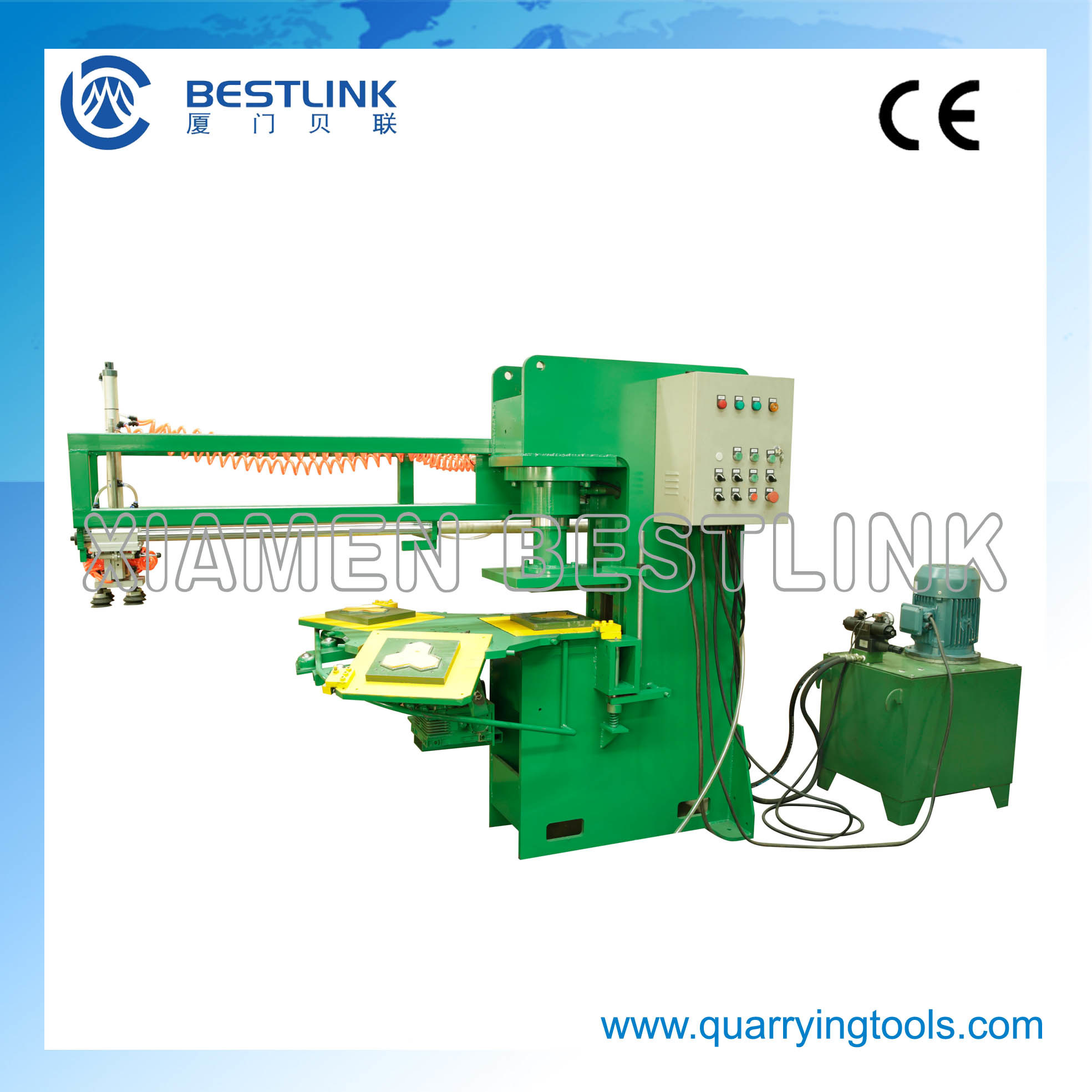 Fully Automatic Stone Stamping Machine for Recycling Waste Stone Tiles