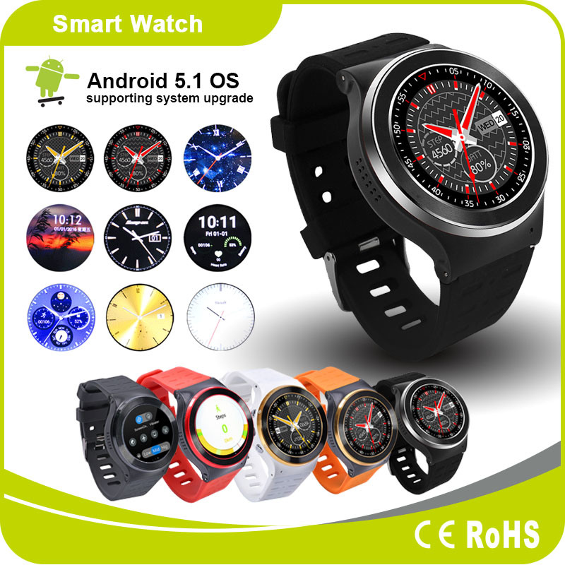 Android Mobile Phone Watch Bluetooth Heart Rate GPS Smart Watch