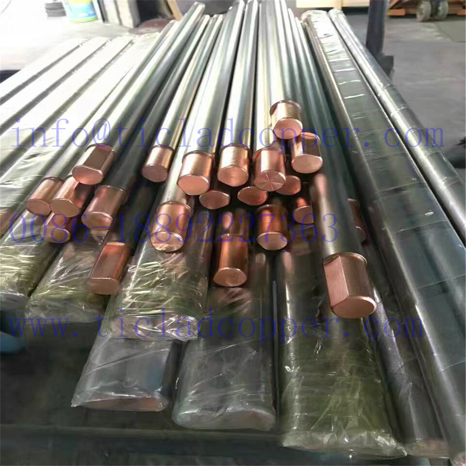 Metallurgical Bond Ti Clad Copper Bus Bar Electrode for Electrowinning
