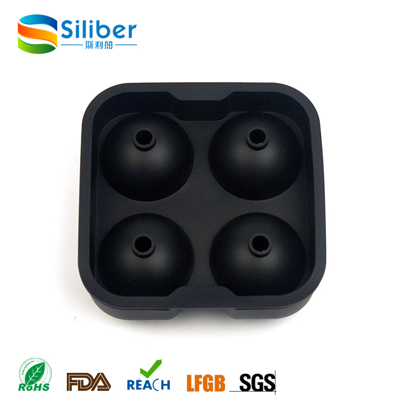 Black Flexible Silicone Ice Ball Spheres Maker Mold