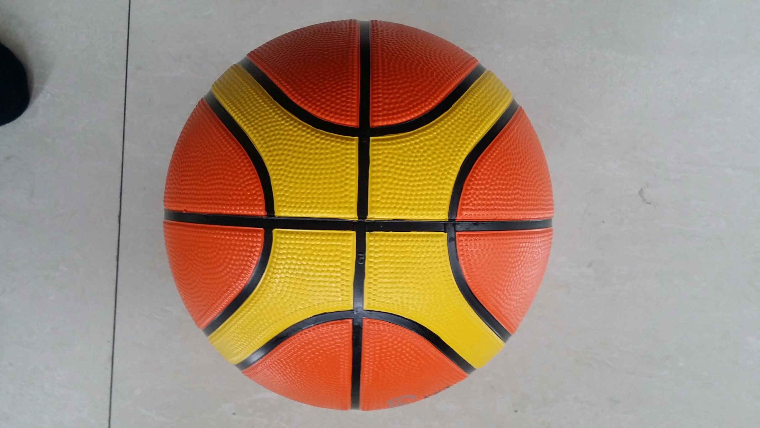 7# 12 Slices Rubber Outdoor Sport Basketball