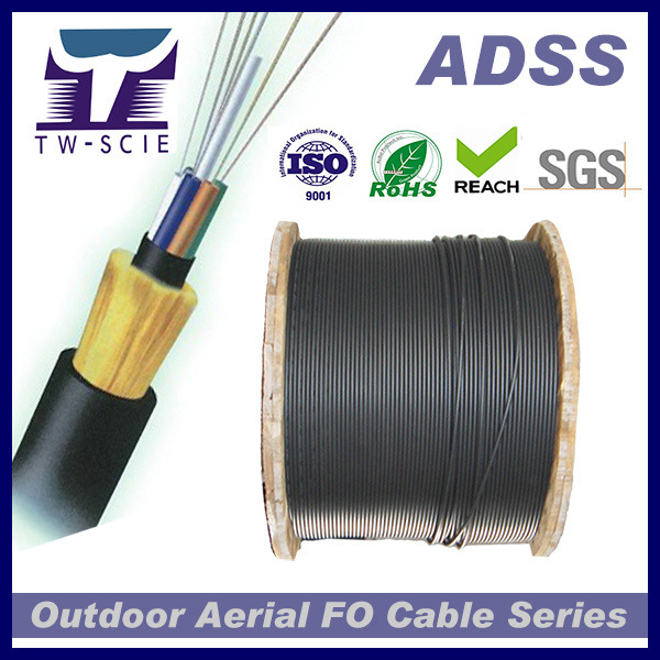 Non-Metallic Self-Support Span 100m Fiber Optic Cable