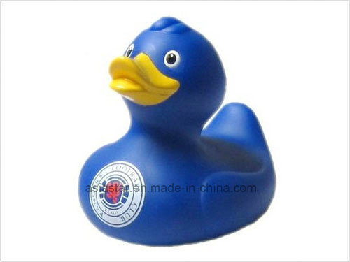 Dark Blue Vinyl Duck Bath Toy