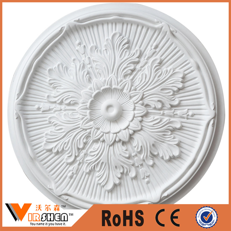 Home Decorative Wall Medallions PU Artistic Ceiling Medallions