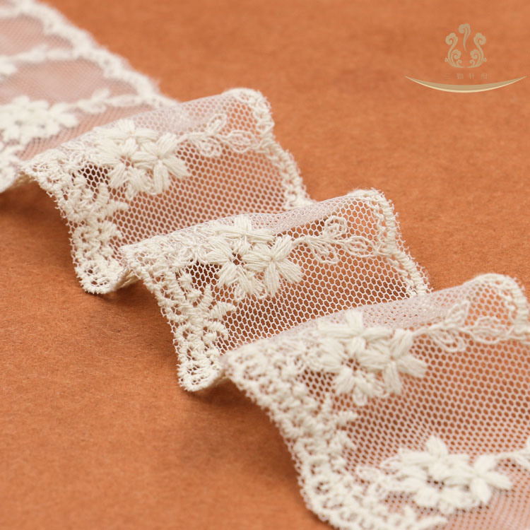 L30010 Cord Wedding Swiss Voile Chemical Lace Trim