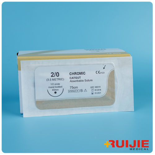 Chromic Catgut Absorbable Surgical Suture with Needle